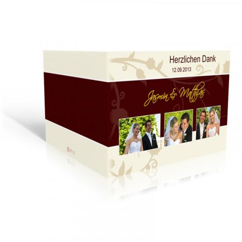 Dankeskarte Hochzeit Beige-braun