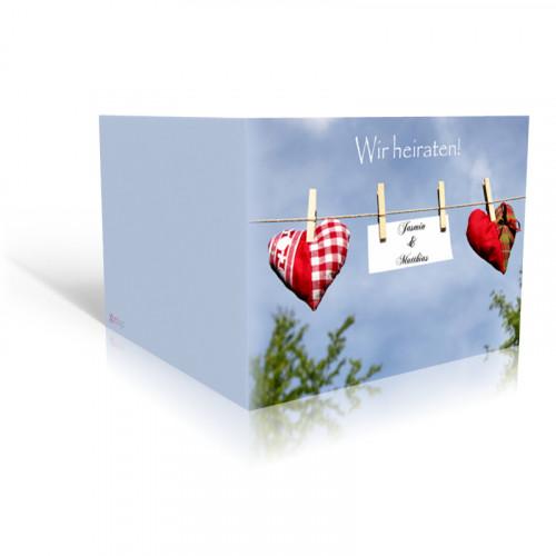 Einladung Hochzeit Herzleine
