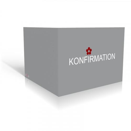 Einladung Konfirmation Grau