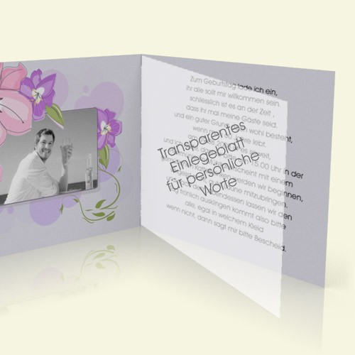 Transparentes Einlegeblatt