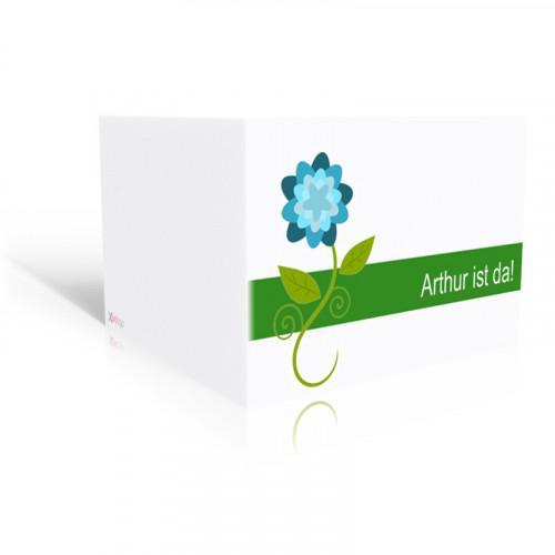 Geburtskarte Blaue Blume