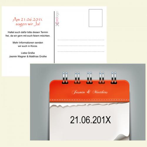 Save the Date  - Kalenderblätter