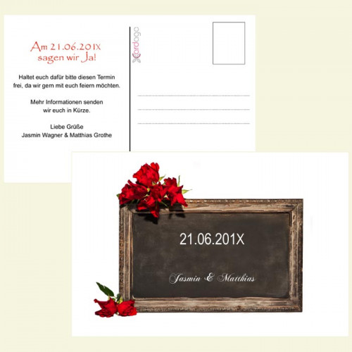 Save-the-Date-Tafel
