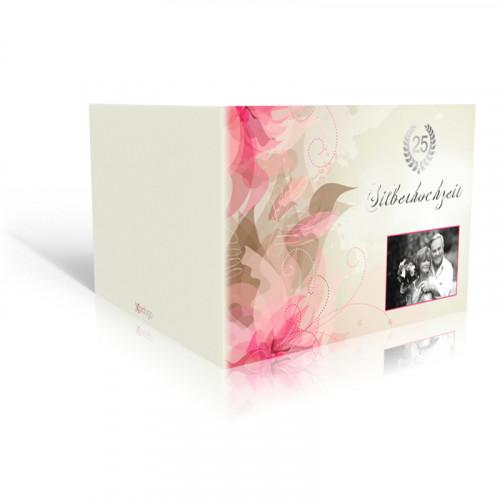 Einladung Silberhochzeit Lilien