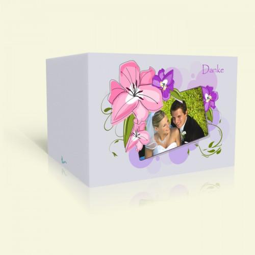 Danksagungskarte Hochzeit Zarte Pastellblüten