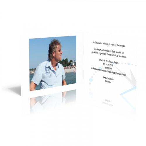 Einladungskarten Geburtstag 50 - Die Zeit verrinnt