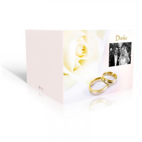 Dankeskarte Hochzeit Rose