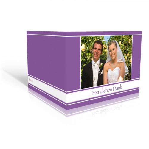 Dankeskarte Hochzeit Lila