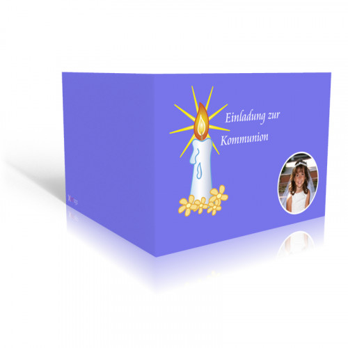 Einladung Kommunion Kerzenlicht