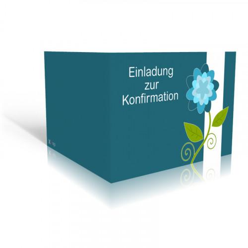 Einladung Konfirmation Blume