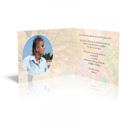 Einladungskarten selber gestalten - Herbstlaub