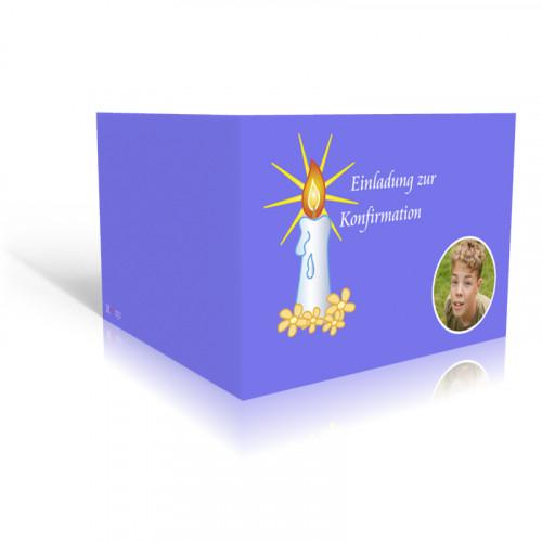 Konfirmation Einladung Kerze