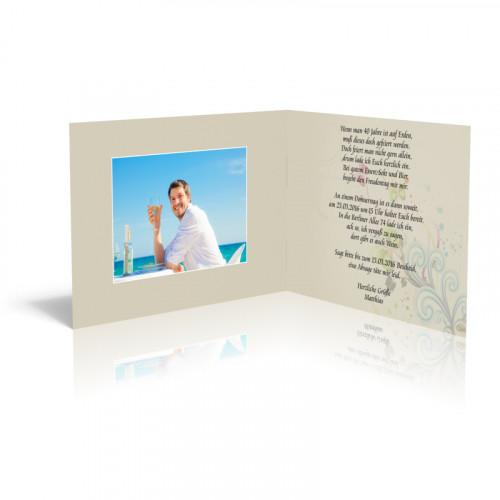 Geburtstag Einladungskarten - Bunte Schmetterlinge