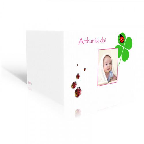 Geburtskarte Gluecksbringer