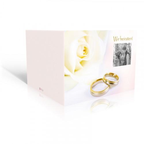 Hochzeitsringe mit Rose