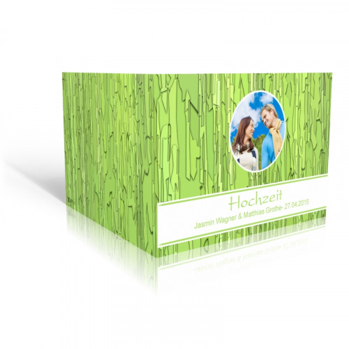 Grünes Kachelmuster