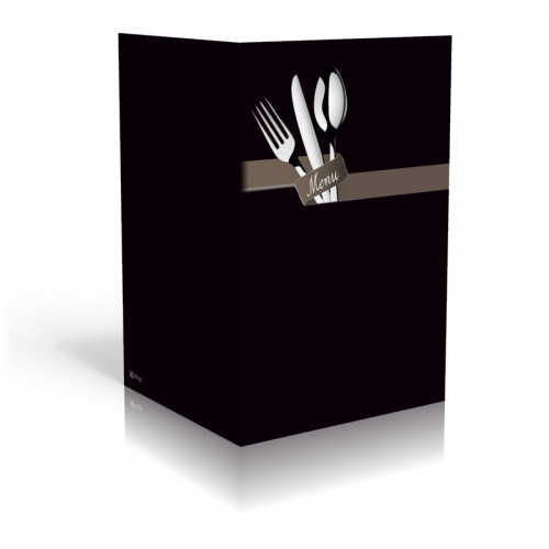 Speisekarte-besteck-schwarz
