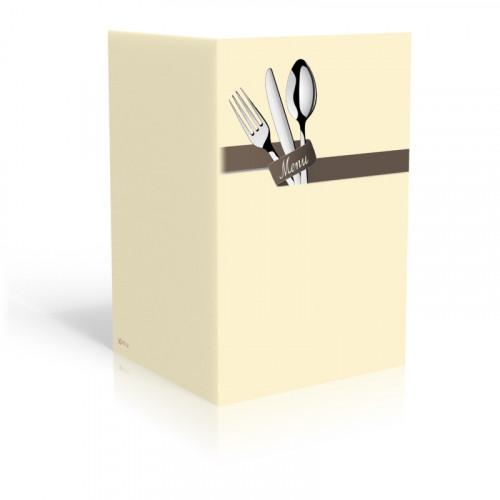 Speisekarte-besteck-vanille