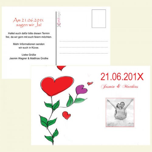 Save-the-Date-Karte-Blumen