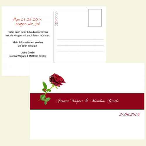 Save-the-Date-Karte-rote-rose