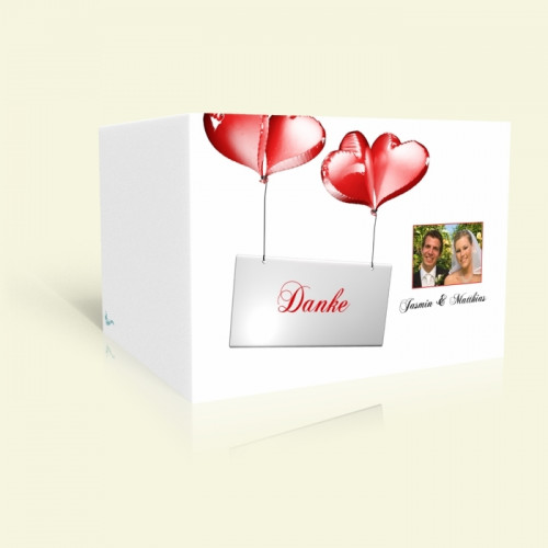 Danksagungskarte Hochzeit Ballons