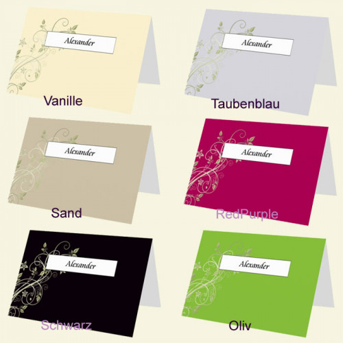 Platzkarte Blütenranke