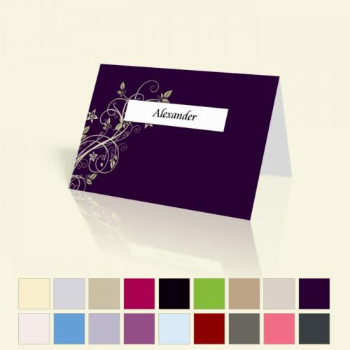"Tischkarte ""Blumenranke"""